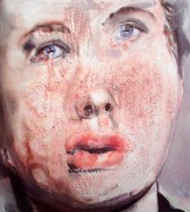 Marlene DUMAS    Pour qui sonne le glas    2008   huile sur toile    100x90